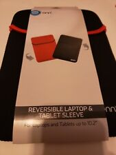 """Onn Reversible Laptop & Tablet Sleeve up to 10.2"""" NEW Red/Black  FREE Shipping"""