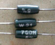 10 X 750R WELWYN W21 3W RESISTORS  NOS