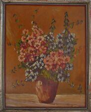 UNBEKANNTER EXPRESSIONIST - BLUMENSTILLLEBEN  - FLOWERS - ÖLGEMÄLDE UM 1930