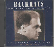 Backhaus Early Recordings By The Pianist CD NEU The Condon Collection