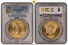 MEXICO , GOLD 50 PESOS 1926 PCGS MS 64 -  EARLY YEARS , RARE
