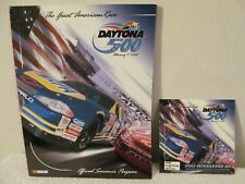 1998 DAYTONA 500 NASCAR PROGRAM, PIT STOP MAGAZINE, 500 EMBLEM, INSIDE NASCAR