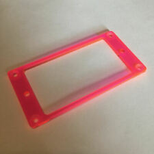 Guitar Parts Humbucker Pickup Bezel Acrylic MOUNTING RING - FLUORESCENT RED