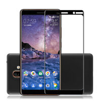 For Nokia 7 Plus Full Cover Tempered Glass Screen Protector Film Guard 9H 2.5D