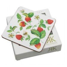 Roy Kirkham Alpine Strawberry Pack of 6 Coasters 10.5cm