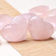 Natural Pink Rose Quartz Crystal Carved Heart Shaped Healing Love Gemstone Sale