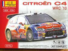 Heller 1:24 Citroen C4 WRC 2010 Loeb/Elena Rally Car Model Complete Kit