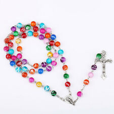 1pc Pearl Rosary Beads Rosary Necklace Catholic Prayer Glass Beads High Quality