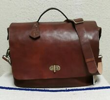 New Anonimo Fiorentino Antique Brown Italian Leather Men's Messenger Bag