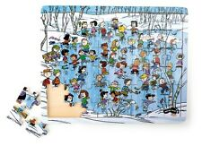 Puzzle in legno Peanuts Inverno, 48 pezzi, Snoopy Charlie Brown Linus, cm 34x27