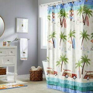 Saturday Knight Ltd Paradise Beach Life Fabric Shower Curtain - 70x72 Multicolor