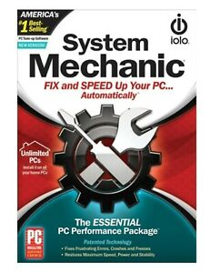 Iolo System Mechanic Fix & Speed Up Unlimited PCs 1 Year SEALED Retail Box