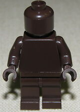 LEGO NEW PLAIN DARK BROWN MINIFIGURE SOLID COLORED FIGURE BOY GIRL STAR WARS