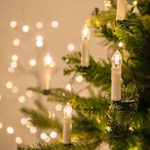20er-50er LED Weihnachts Lichterkette Christbaum Kerzen Tannenbaum Beleuchtung