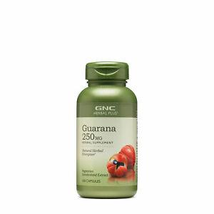 GNC Herbal Plus Guarana 250MG 100 Capsules