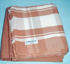 """Brahms Mount Bailey Cotton Linen Day Blanket Bittersweet Plaid 50x80"""" Usa New"""