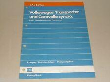 VW Schulungsunterlage Lehrgang Übungsaufgaben Transporter Caravelle Syncro, 1985