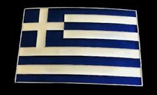 Greece Greek Hellenic Athens Cross Flag Big Belt Buckle Boucle de Ceinture