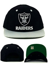 Oakland Raiders New NFL Proline Vintage Black Gray Era Cotton Snapback Hat Cap