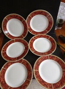 6 WEDGWOOD TORTOISESHELL  SALAD/ DESSERT  PLATES 20CM