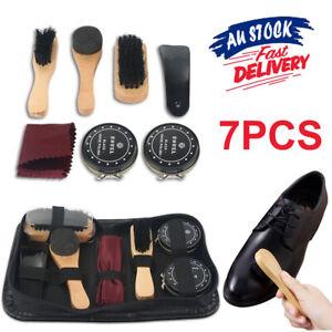 8pcs Polish Brush Set Shoe Shine Care Kit Boots Shoes Sneakers Leather Bag