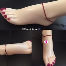Plain Chain Anklet Jewellery in Red Colour 25 cm