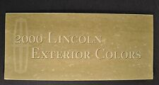 2000 Lincoln Paint Chip Colors Brochure Continental LS Town Car Navigator