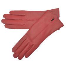 Gants de cuir rouge pour femme
