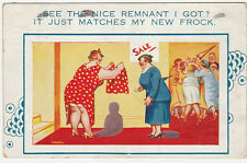 Vintage 1939 See The Nice Remnant I Got COMIC POSTCARD by WILLS Sent & writing
