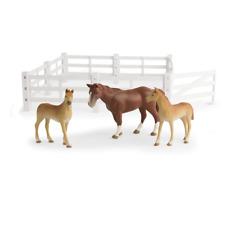 1/16th Big Farm Horse & Colt Animal Set with Fence