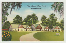 Linen Oak Manor Hotel Court Motel, Baton Rouge LA 1950s Louisiana