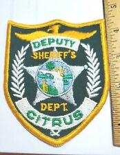 Sheriff's Deputy Citrus County Florida Police Patch