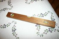 "Vintage Globemaster No. 5936/18 Mahogany 18"" Wood Level Made in Japan"