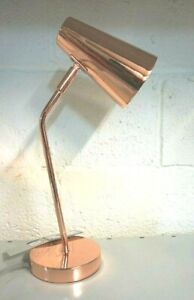 "New Copper Inspired Retro Adjustable Desk/Table Lamp Adjustable Head 45.5 Cm/18"""