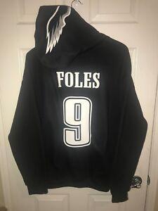 Philadelphia Eagles Nick Foles Black Style Jersey Hoodie Hoody Hooded Sweatshirt