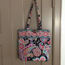Vera Bradley Retired Parisian Paisley Toggle Colorful Tote Bag