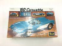 Vintage 1984 Revell 1960 Corvette Sports Car Classic Model H-1203 1/25 Scale Kit