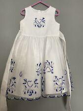 White Blue Occasion Dress 4-5