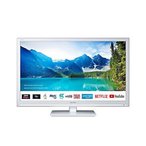"""Sharp 1T-C24BC0KR1FW 24"""" Inch HD Ready LED Smart TV with Freeview Play - White"""