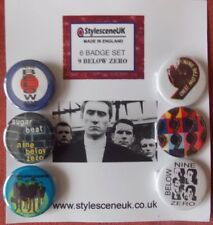 Nine Below Zero  (Dennis Greaves) - 25mm Button Badge Set, Mod / Revival, R&B