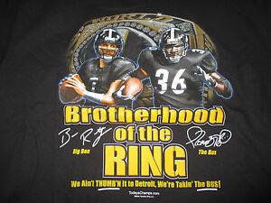 BIG BEN ROETHLISBERGER Pittsburgh Steelers JEROME BETTIS LG T-Shirt BROTHERHOOD