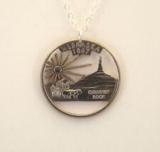 Nebraska, Cut-Out Coin Jewelry, Necklace/Pendant