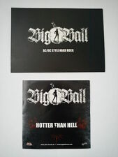 BIG BALL - HOTTER THAN HELL - Aufkleber/Sticker + Promo-Flyer (AC/DC  Airbourne)