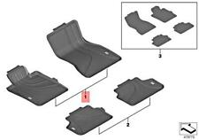 Genuine BMW G30 550i 540i 530i M5 5-series All Weather Floor Mats Front And Rear