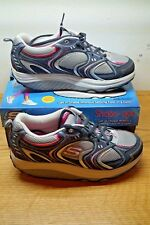 SKECHERS SHAPE UPS 11806 ACTION PACKED SILVER NAVY US 10 WOMENS W/ BOX