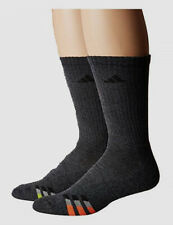$69 Adidas Climalite Men's 2 Pairs Pack Gray Crew Athletic Socks Shoe 6-12