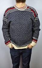 Wool Sweater Men's Medium Norwegian Pattern Norway Jumper Nordic Fisherman M top
