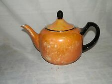 Vintage, Peach Lustreware & Black Trim, #32, Made In Germany, Teapot