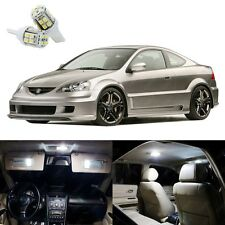 8 x Xenon White LED Interior Lights Package Deal Kit For Acura RSX 2002 - 2006