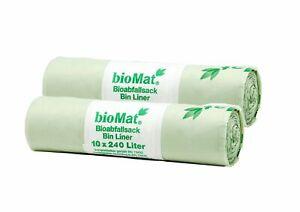 240l BIOMAT® kompostierbare Abfallsäcke (20, 30, 100 Mülltüten), Müllsäcke